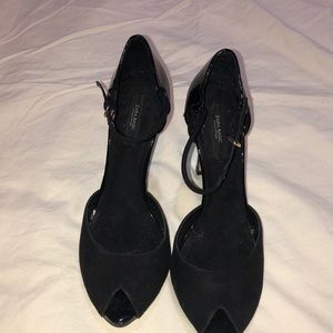 Zara black Heels with peep toe